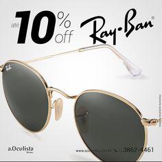 Toda linha Ray Ban com até 10% com desconto  Compre pelo site em até 10x Sem Juros e Frete Grátis nas compras acima de R$400,00 👉 www.aoculista.com.br/ray-ban  #aoculista #rayban #glasses #sunglasses #eyeglasses #oculos