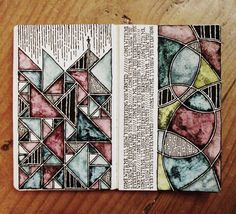 Illusion: Irish artist Rebecca Blair has a beautiful and consistent collection… Artist Sketchbook, Sketchbook Pages, Art Journal Pages, Art Journals, Sketchbook Ideas, Kunstjournal Inspiration, Sketchbook Inspiration, Gcse Art, Letter Art