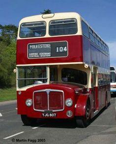 Folkestone bus AEC Bridgemaster YJG807 EAST KENT