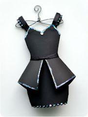 Miss January - Little black dress template