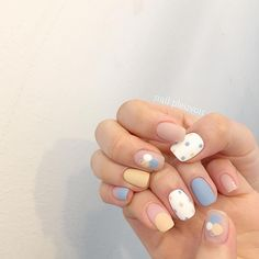 In look for some nail designs and ideas for your nails? Here's our list of must-try coffin acrylic nails for stylish women. Nail Manicure, Diy Nails, Swag Nails, Nail Polish, Nails Inc, Korean Nail Art, Korean Nails, Cute Acrylic Nails, Cute Nails