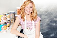 """Christina Tosi of Milk Bar & Master Chef talks to ITG about the blush she stole from her makeup artist and the overnight cream that makes her skin """"happy. Christina Tosi, Momofuku Milk Bar, Joel Robuchon, Lidia Bastianich, British Celebrities, James Beard Foundation, James Beard Award, Light Hair, People Photography"""