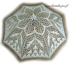 crocheted umbrella | crochet lace ecru umbrella | crochet