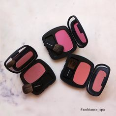 Now here's a little something that will put the color back in your cheeks! Blush shades from #bareMinerals featuring The Faux Pas. The One, and The Aphrodisiac. #ambiance_spa #MakeupMonday #facials #waxing#skincare #suncare #makeup #haircare #shopsmall #shoplocal #shopLBC#BelmontHeights #repost (Image taken and edited from bareMinerals)