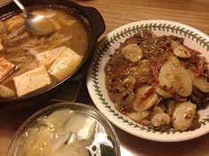 2013.12.27 저녁. 궁중 떡볶이와 된장 찌게