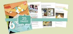 FREE EBOOK | 6+ Stash-Busting Paper Craft Projects, a Craftsy eGuide