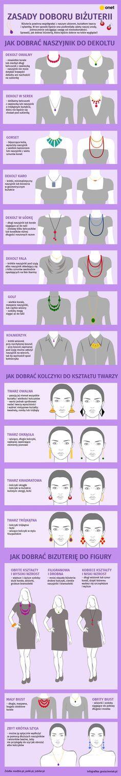 Zasady doboru biżuterii | Infografika o biżuterii | Jak dobierać biżuterię?