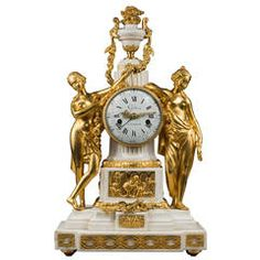 Louis XVI Mantel Clock Allegory of Spring by Gide