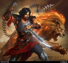 ArtStation - For 2reallife company, Grafit Studio Prince Of Persia, Fantasy Male, Fantasy Warrior, Dnd Characters, Fantasy Characters, Character Art, Character Design, Character Portraits, Male Fairy