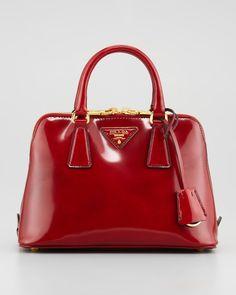 Prada - Spazzolato Promenade Satchel Bag, Red - http://womenspin.com/handbags/prada-spazzolato-promenade-satchel-bag-red/