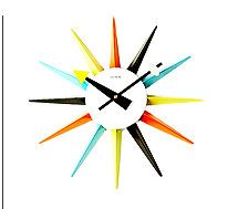 modern starburst clock retro