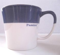 NEW Starbucks Coffee Mug Cup Passion Purple  White Holds 10 oz  Bone China 2010 #Starbucks2010