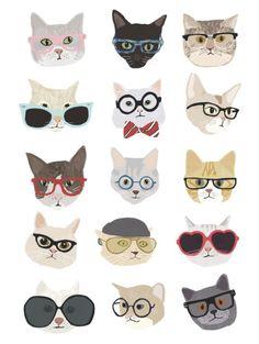 by Hanna Melin - Illustration - Katzen Crazy Cat Lady, Crazy Cats, I Love Cats, Cute Cats, Funny Cats, Art And Illustration, Cat Illustrations, Photo Chat, Here Kitty Kitty