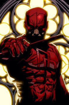#Marvel:Daredevil  Daredevil(Matt Murdock) <3  Daredevil Print 1 by Sigint
