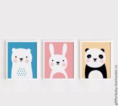Купить Постер в детскую - постер, панда, постеры, декор детской комнаты, декор детской