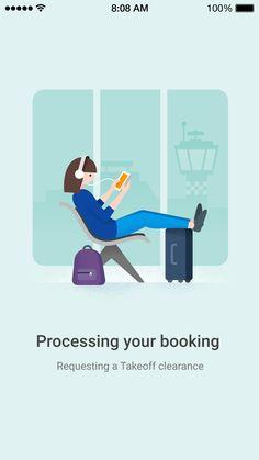 Google Flights booking processing by German Kopytkov