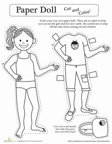 Rainy Day Paper Doll Boy  Preschool weather Dolls and Free paper