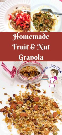 Fruit and Nuts Homemade Granola is not just a healthy but also a nutritious way to start your day. Adding you family favorites is the best way to get every member in the family to eating right. via @Veenaazmanov