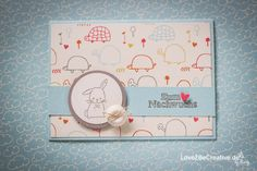 """Heute zeige ich euch eine süße Babykarte mit dem Stempelset """"Zum Nachwuchs"""" von Stampin Up! Stampin Up, Blog, Card Making, Cards, Animals, Animales, Animaux, Stamping Up, Map"""