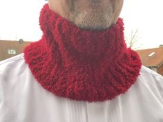 Cowl (Kragenschal) für Herren Chenille, Minis, Winter Hats, Fashion, Scarves, Jackets, Hand Crafts, Tutorials, Breien