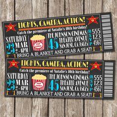 Chalkboard Invitation Movie Party Outdoor by LittleMsShutterbug, $10.00