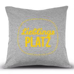 Kissenhülle Lieblingsplatz Design3000, Shops, Sweet Home, Throw Pillows, Nice, Deko, Homes, Nice Asses, Doodles