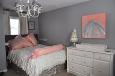 love the ruffles on this bed