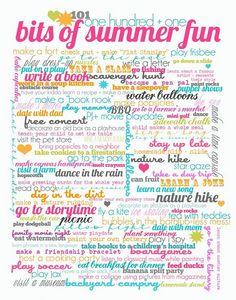 101 Fun Summer Things
