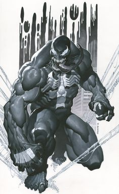 Venom-Chris Stevens, in anim sketch's Commissions Comic Art Gallery Room Venom Comics, Marvel Venom, Marvel Villains, Bd Comics, Marvel Art, Marvel Dc Comics, Marvel Heroes, Deadpool Wolverine, Joker Batman