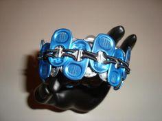 """7"""" Monster Energy Drink Tab Bracelet - Blue"""