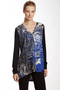 V-Neck Silk and Bamboo Blend Blouse
