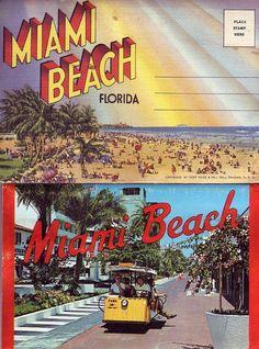 Vintage Miami Beach postcards