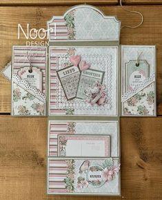 Scrapbook Bebe, Mini Scrapbook Albums, Scrapbook Cards, Pop Up Karten, Karten Diy, Fancy Fold Cards, Folded Cards, Baby Mini Album, Mini Album Tutorial