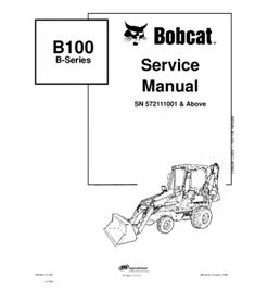 Bobcat s250, s300 skid steer loader series service repair