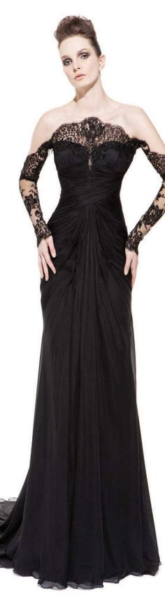 Black Gorgeous Gown by Pavoni ♥✤ | Keep the Glamour | BeStayBeautiful