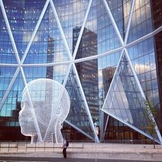 Exploring downtown #Calgary on a Monday morning. Space-age sidewalks & skyscrapers.