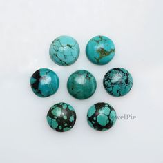 Tibetan Turquoise Loose Gemstone Calibrated Round 10x10mm AAA Grade - 7 Pcs.
