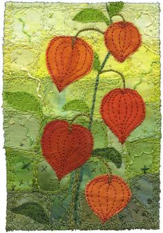Chinese Lanterns Small by Kirsten's Fabric Art, via Flickr