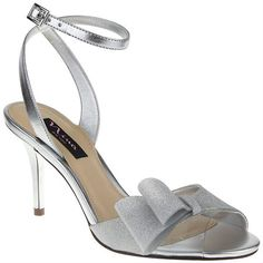 Nina Falana Evening Sandals in silver @ Macy's. For my maids who want a heel ;)