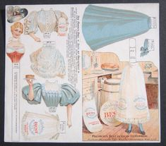 Antique 1895 Advertising Pillsbury Flour Uncut Paper Doll The Forbes Girl Vintage Labels, Vintage Ephemera, Vintage Cards, Paper Art, Paper Crafts, Paper People, Vintage Paper Dolls, Printable Paper, Paper Toys