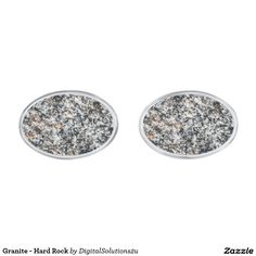 Granite - Hard Rock Silver Cufflinks