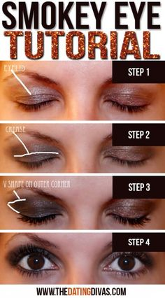 Smokey Eyes-I am going to give this one a try.  Using Bare Minerals...of course.