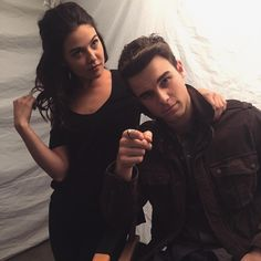 The Originals ... Danielle Campbell andNathaniel Buzolic as Davina and Kol