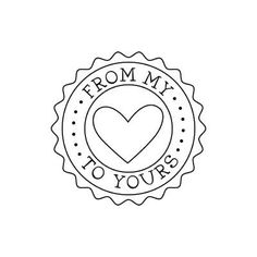 """logo a little something like this, but says """"tarts by tarts"""" in a different font and no heart. Decoupage, Quilt Labels, Card Sentiments, Free Graphics, Copics, Digital Stamps, Be My Valentine, Illustrations, Embroidery Patterns"""
