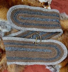 Viking Nalbinded neck warmer scarf
