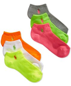 Polo Ralph Lauren Women'S Sport Socks 6-Pack