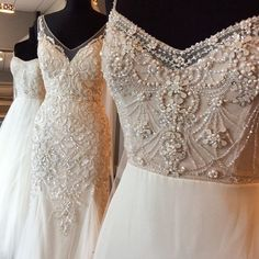 Our beaded beauties are at @blissbridalwi this weekend! Don't miss your chance to try on our brand new Fall collections from Watters, Wtoo & @lovemarleyofficial! #BeAWattersGirl #trunkshow #wisconsinbride #engaged #weddingdress