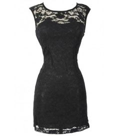 Bold Floral Lace Fitted Dress in Black