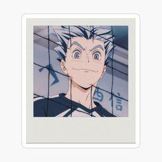 Anime Stickers, Cute Stickers, Printable Stickers, Polaroid, Bokuto Koutaro, Volleyball Anime, Aesthetic Stickers, Anime Scenery, Haikyuu Anime