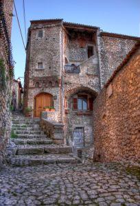Walking in the street of Sermoneta - (LT) - Lazio - Italy